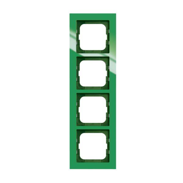 ABB Axcent Yhdistelmäkehys vihreä 4-paikkainen