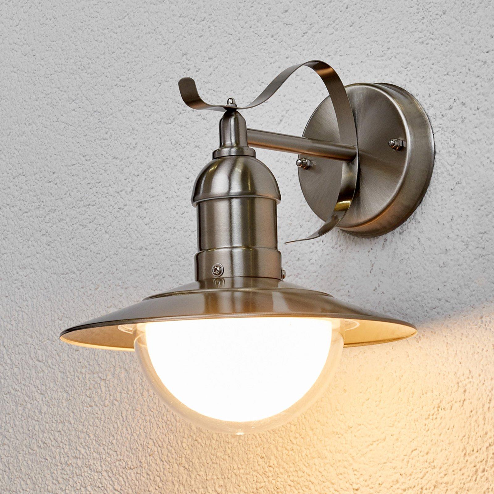 Clea - utevegglampe av rustfritt stål med LED-lys