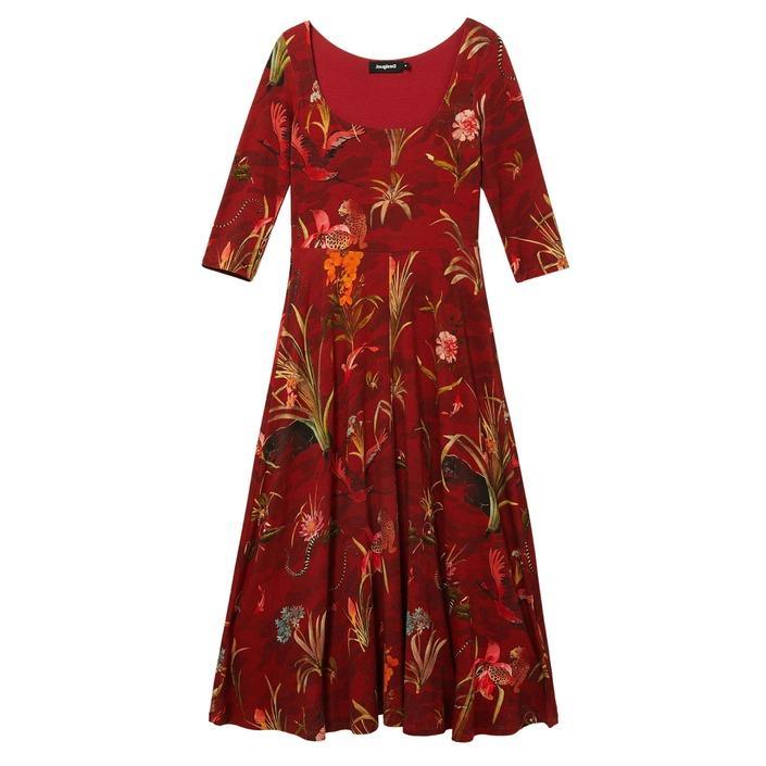 Desigual - Desigual Women Dress - bordeaux XS