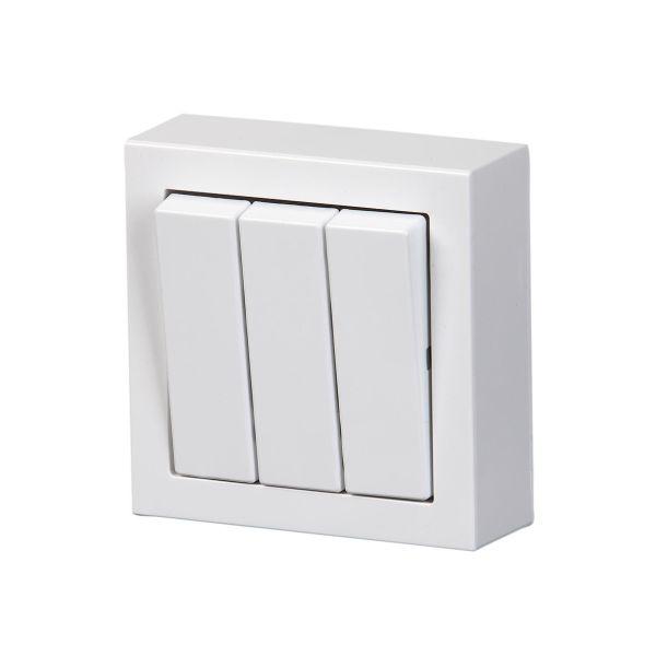 ABB Impressivo Kytkin 3x1-napainen, pinta-asennettava Valkoinen
