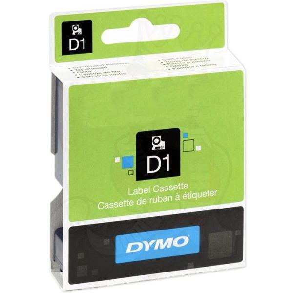 DYMO Standard D1 Teip 6mm Svart på transparent