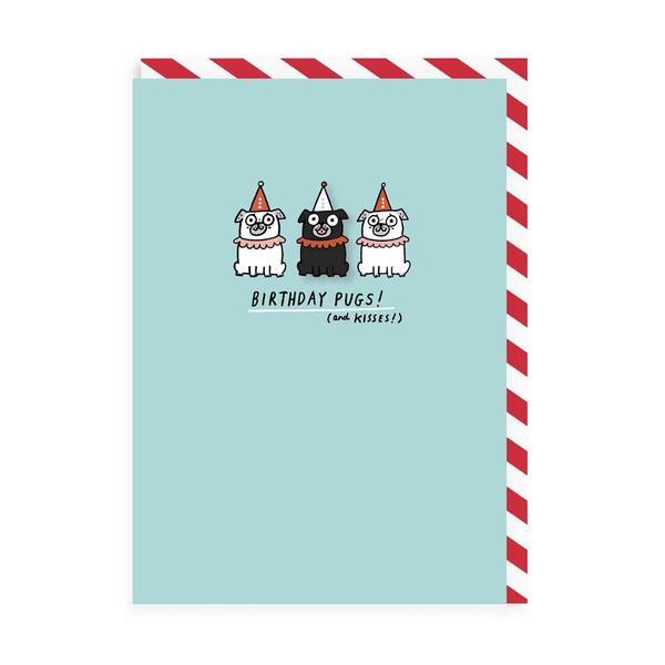 Birthday Pugs Enamel Pin Greeting Card