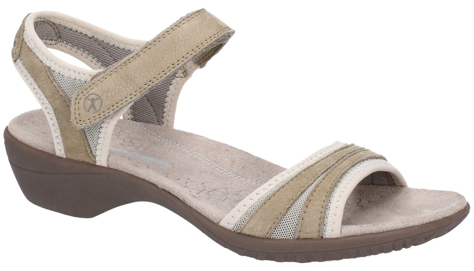 Hush Puppies Women's Athos Touch Fasten Sandal Various Colours 28386 - Taupe 3