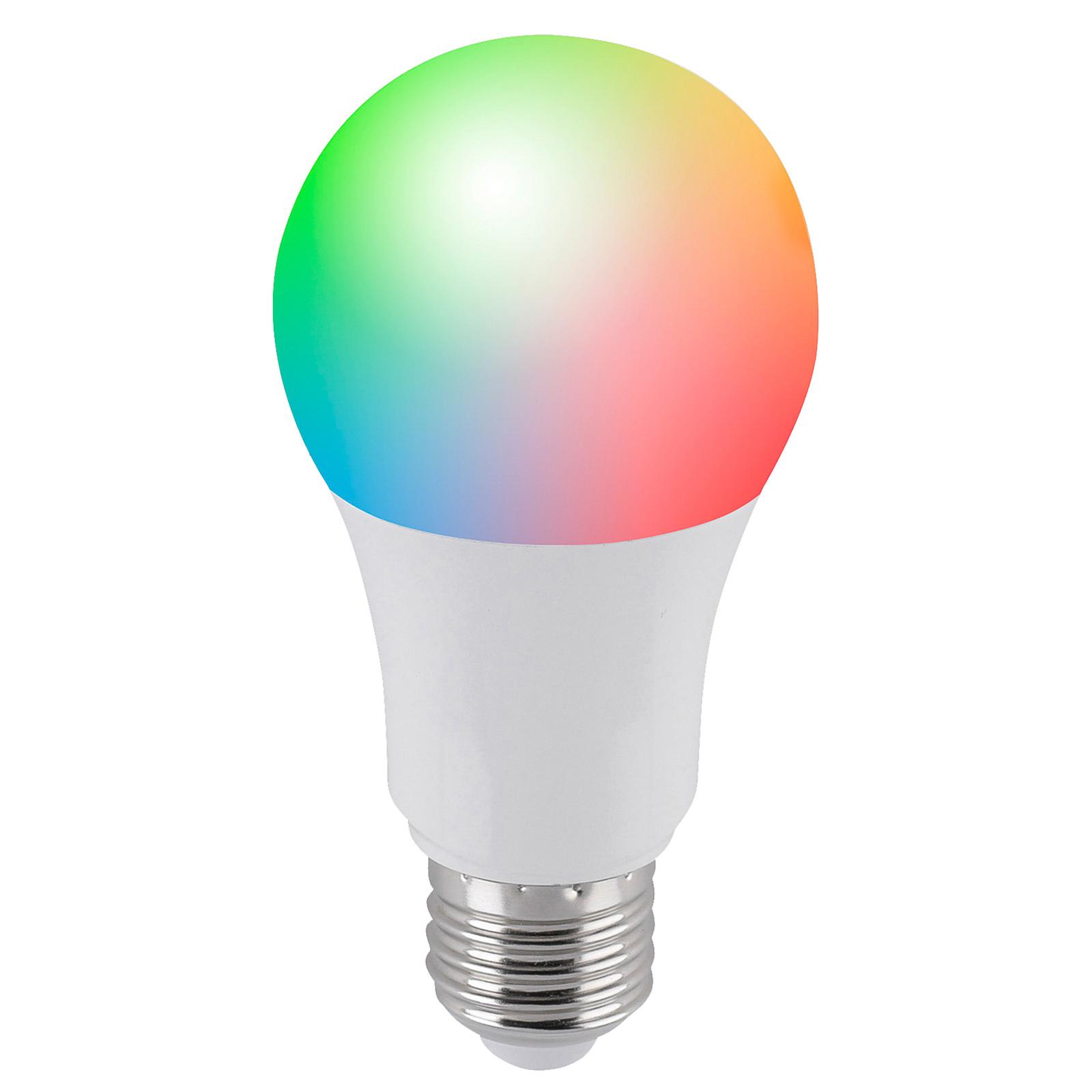 Fiksu Q-LED-lamppu E27 9,5 W, RGBW, jatko-osa