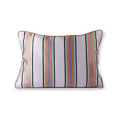 Satin/Velvet Cushion Orange/Blue 35x50 cm