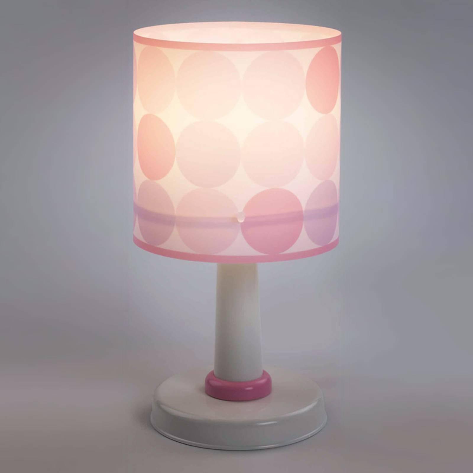 Colors - prikkete bordlampe i rosa