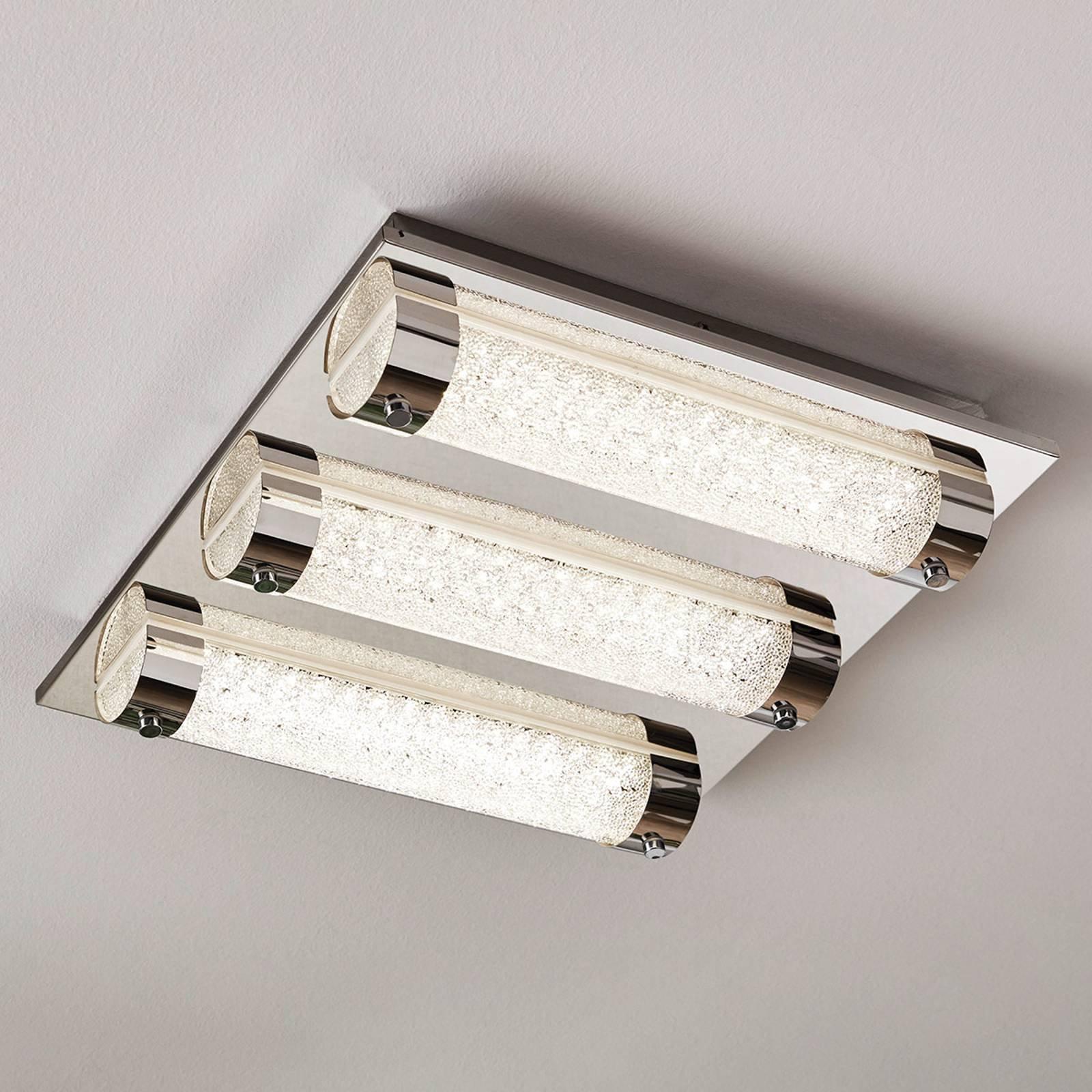 LED-taklampe Tolorico, 35 cm kvadratisk