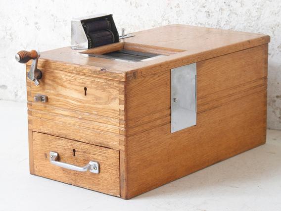 Vintage Till Register by Gledhill & Sons Brown Medium