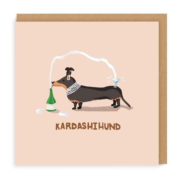 Kardashihund Square Greeting Card