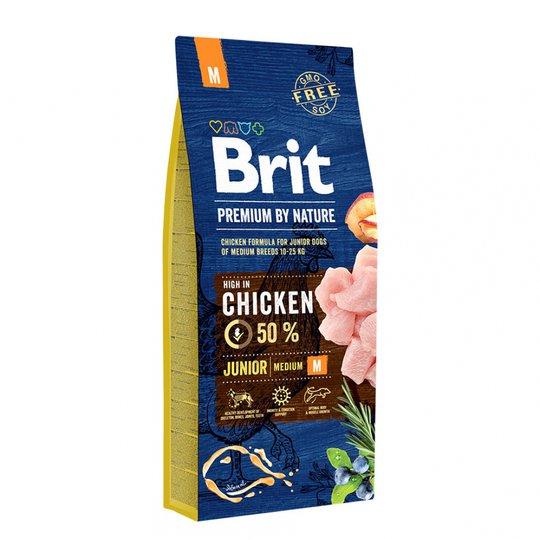 Brit Premium By Nature Dog Junior Medium Chicken 15 kg