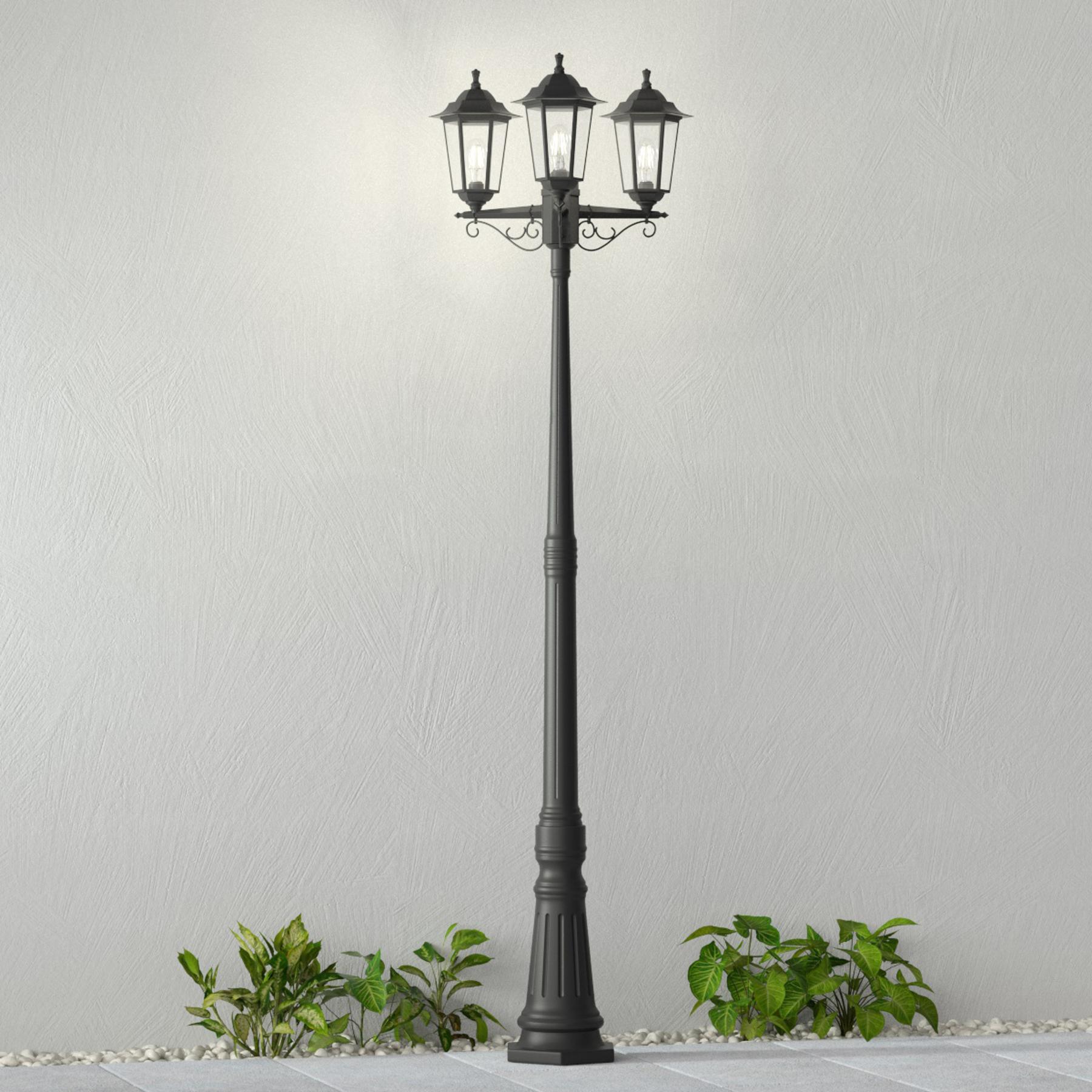 Ulkotolppavalaisin Nane, lyhdyn muoto 3-lamppuinen