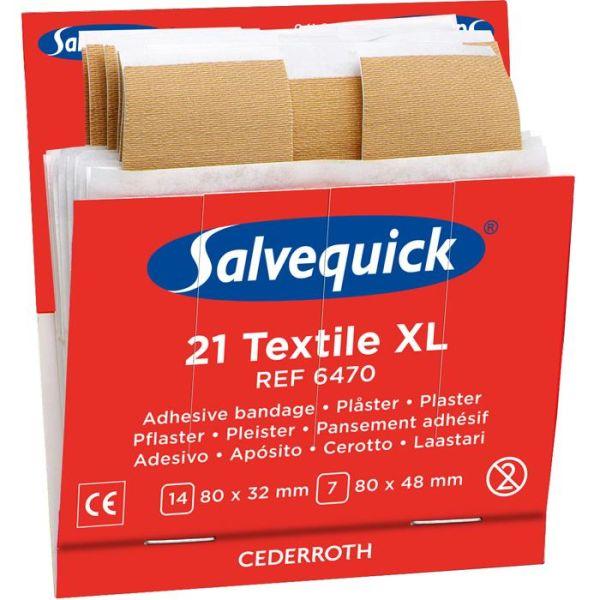 Salvequick 6470 Tekstilplaster XL 6x21st