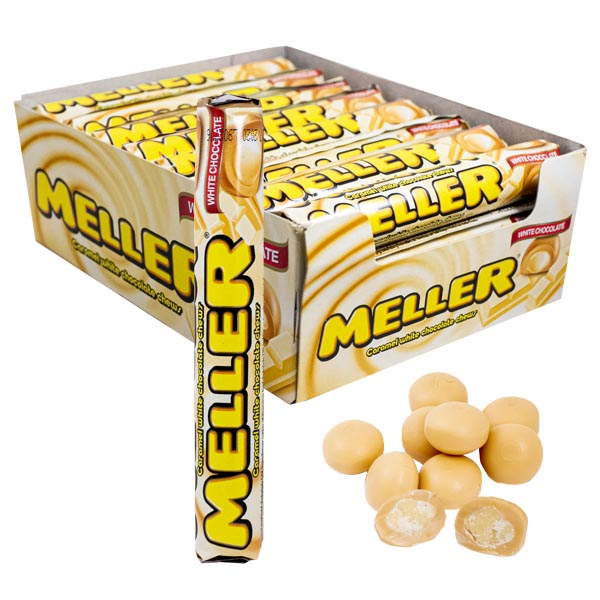 Meller White Chocolate Rolls - 24 st