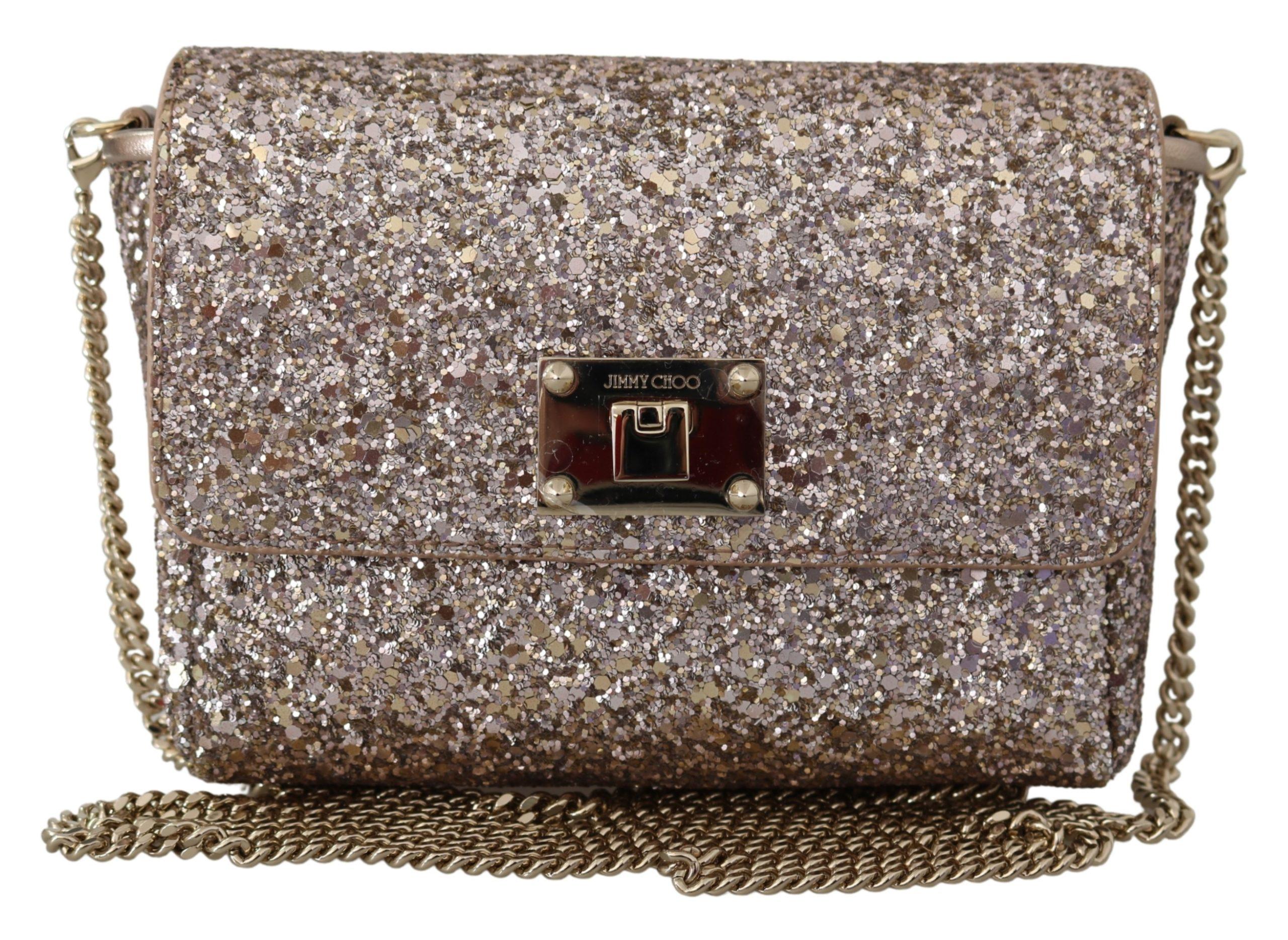 Jimmy Choo Women's Ruby Lace Crossbody Bag Gold 1436036