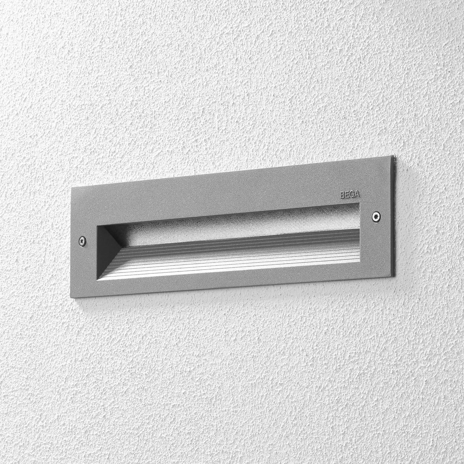 BEGA 33054 LED-veggmontering 3 000 K sølv 26 cm