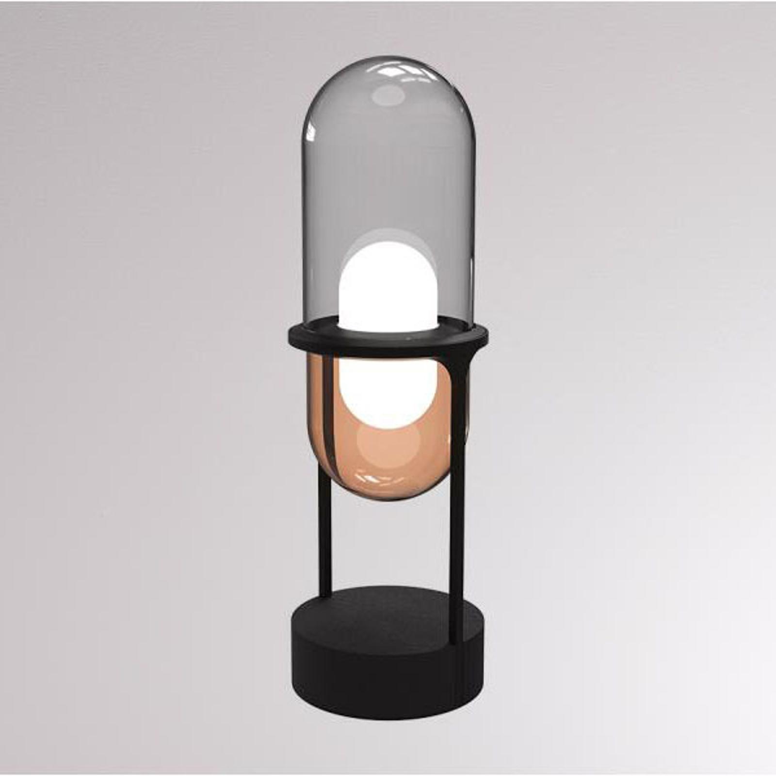 LOUM Pille -LED-pöytälamppu harmaa/kupari