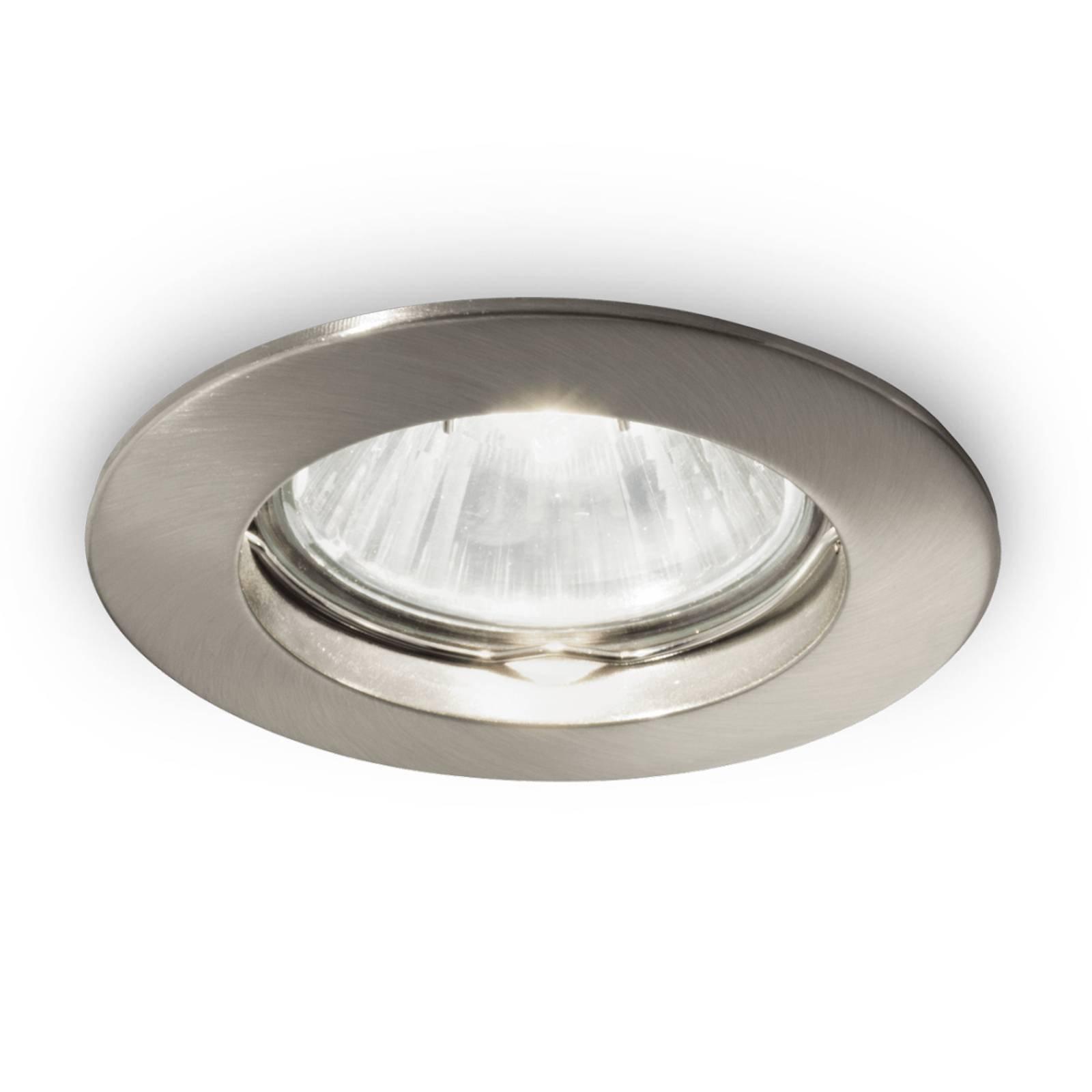 Innebygget taklampe Jazz, rund GU10 3 stykk nikkel