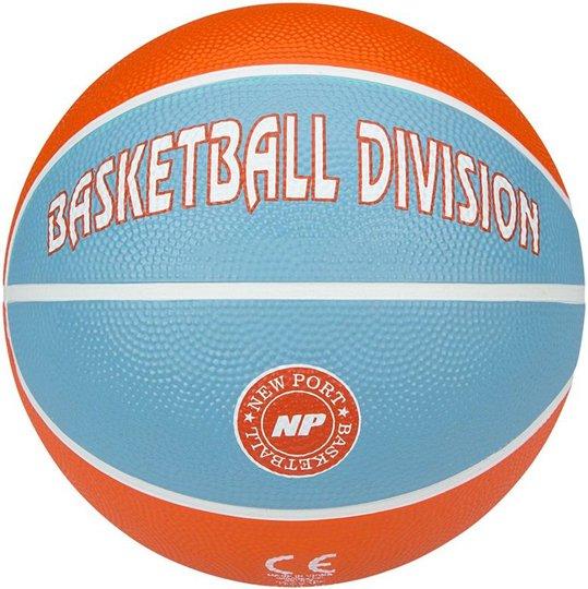 New Port Basketball Størrelse 3, Oransje/Lyseblå
