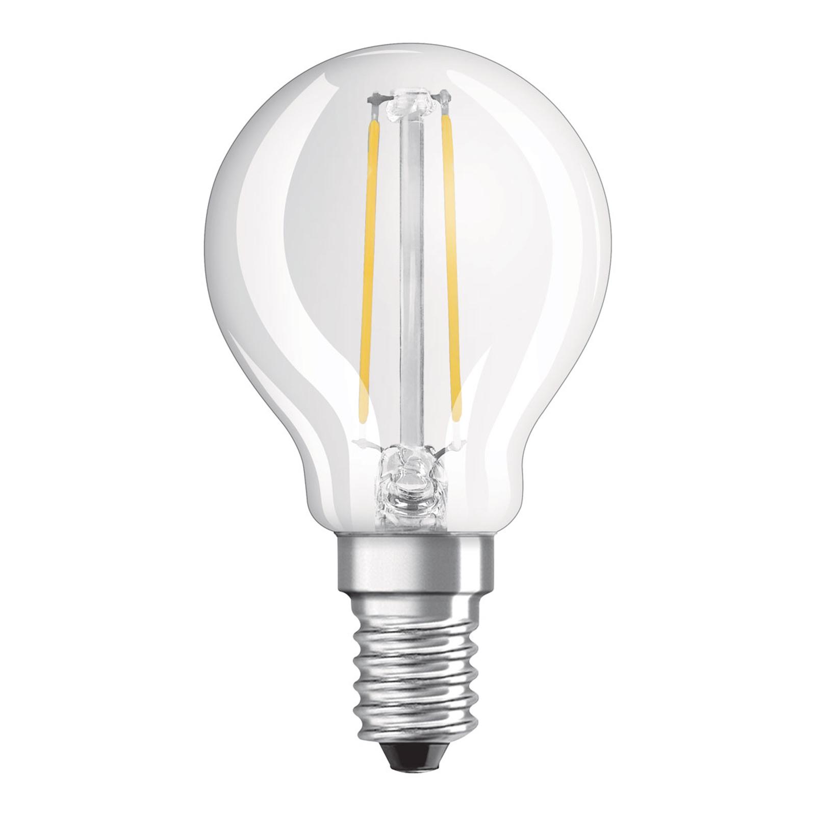 OSRAM-LED-golfpallolamppu E14 2,8W himmennettävä