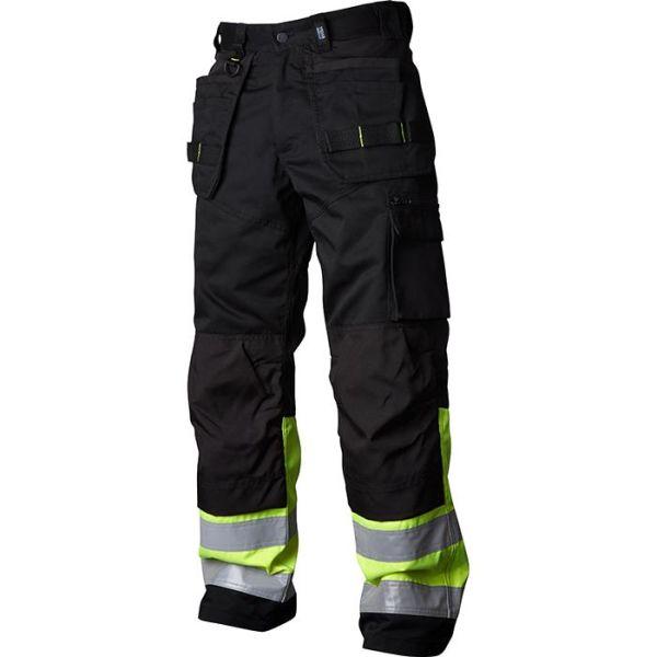 Vidar Workwear V500451C046 Håndverksbukse svart/gul C46