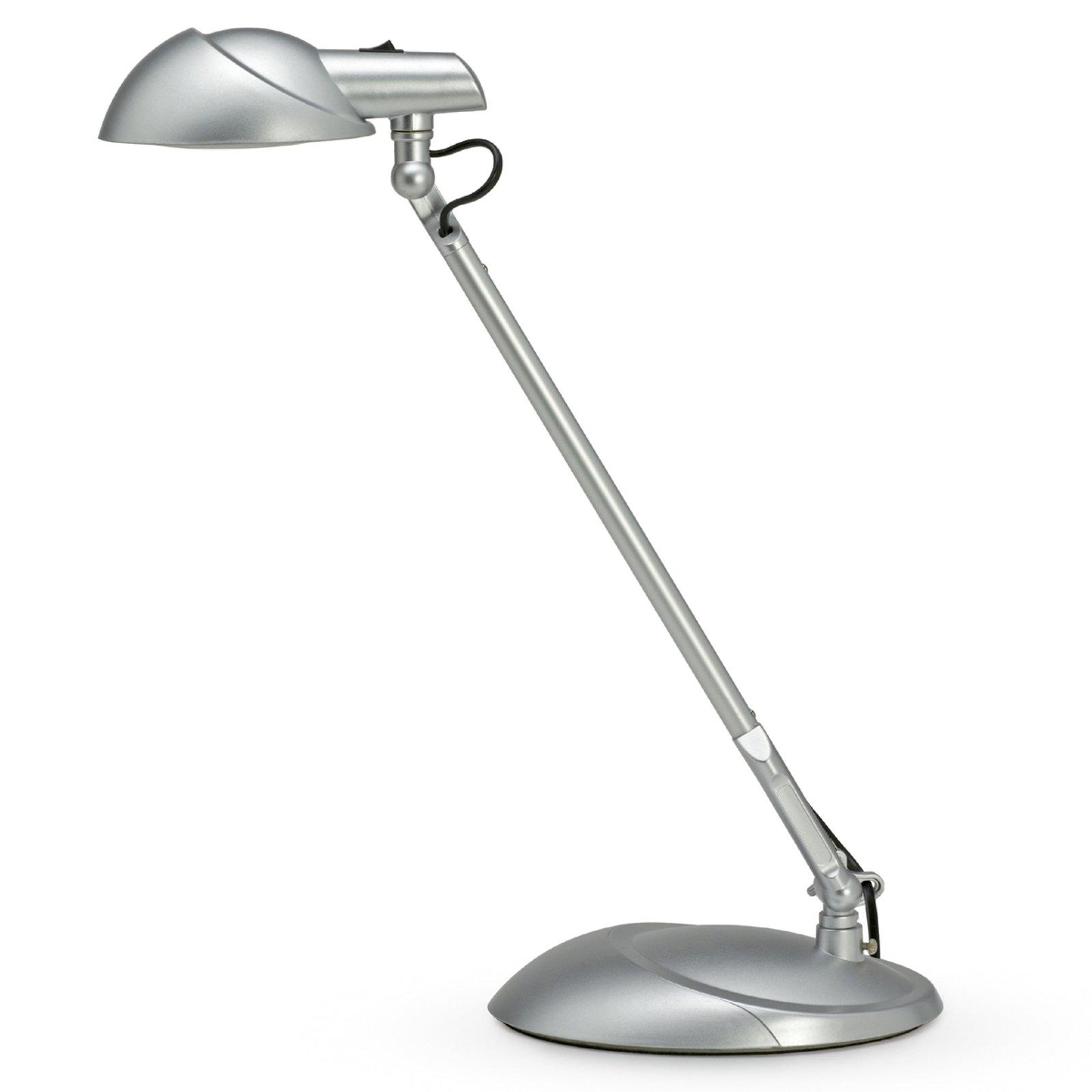 LED-skrivebordslampe STORM, sølv