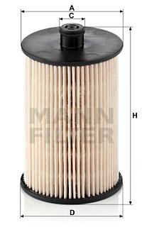 Polttoainesuodatin MANN-FILTER PU 823 x