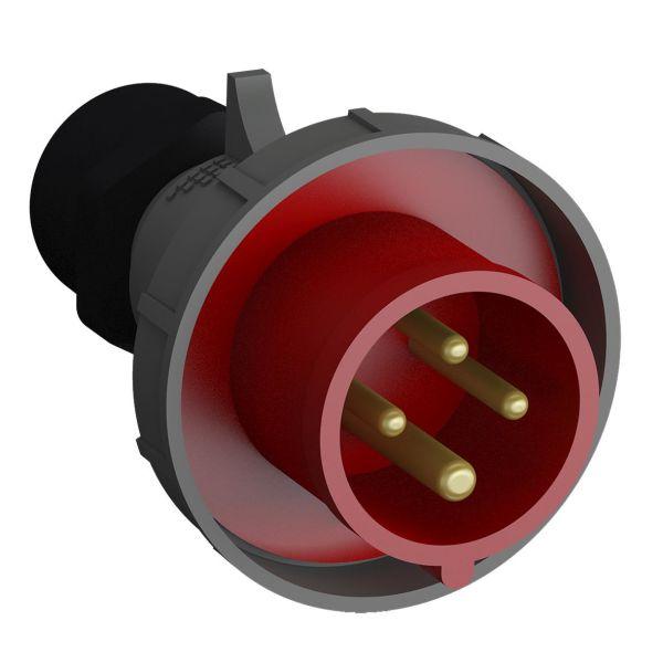 ABB 2CMA102374R1000 Pistotulppa pikaliitettävä, tärinänkestävä Punainen, 32 A, 4-napainen, 93 mm