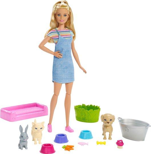 Barbie Play 'n' Wash Pets Dukke & Lekesett