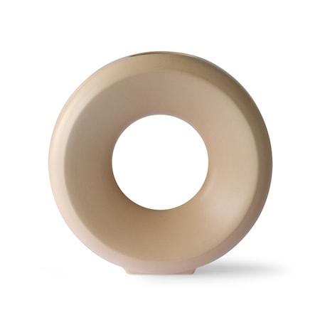 Circle Ceramic Vas L Sand