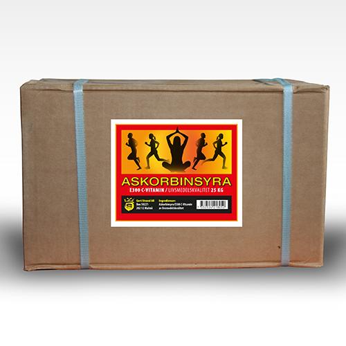 Askorbinsyra C vitamin 25 kg