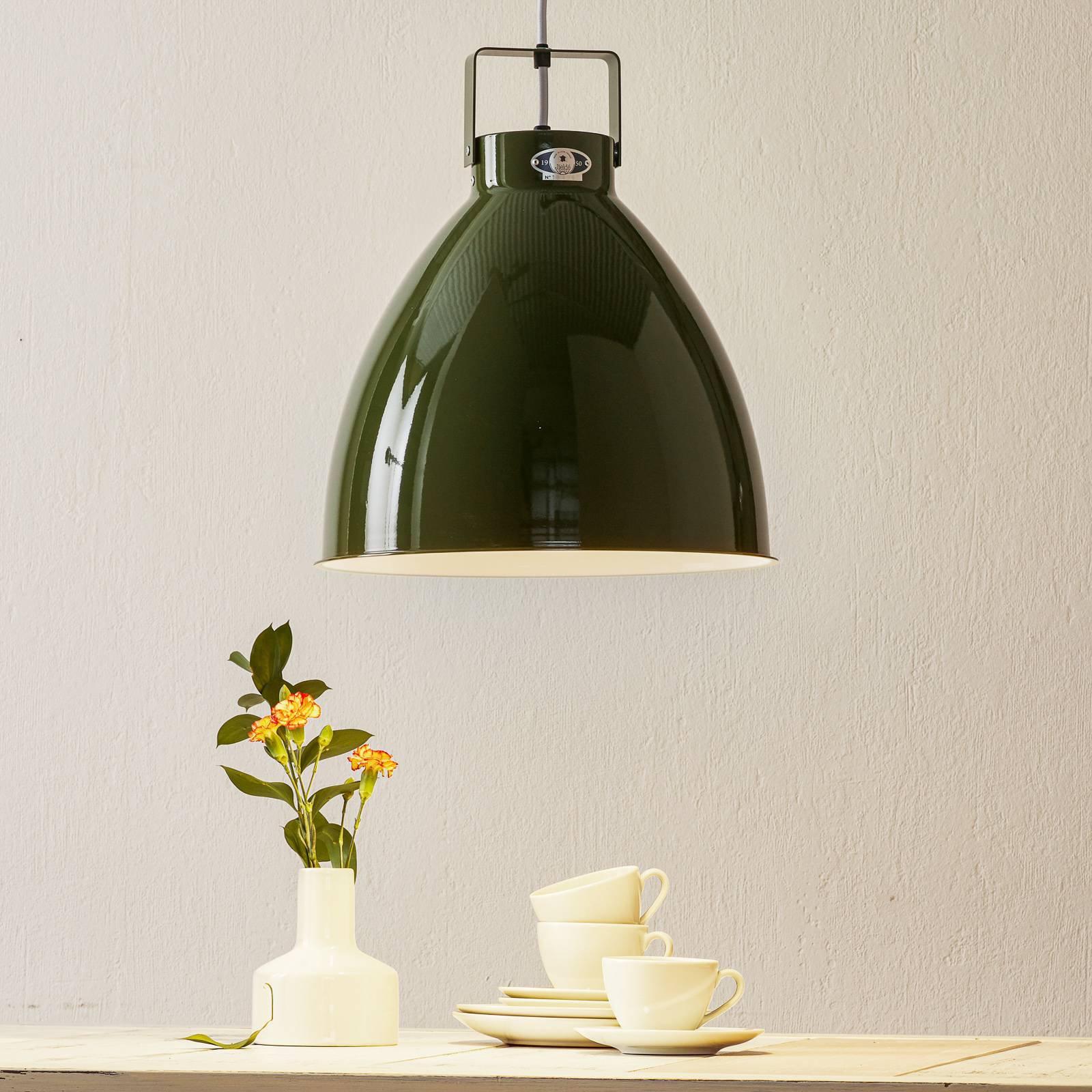 Jieldé Augustin A360 hengelampe, blank olivengrønn