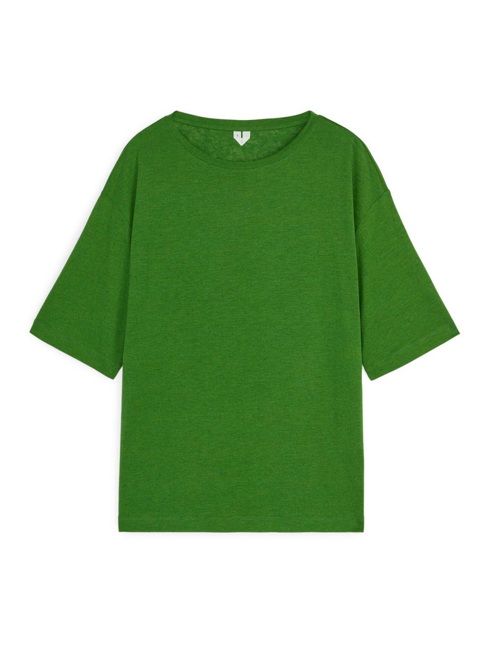 Lyocell-Linen T-shirt - Green