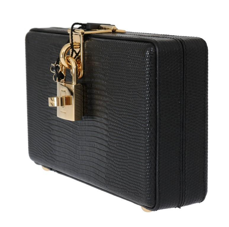 Dolce & Gabbana Women's Leather Clutch Bag Black VAS1619