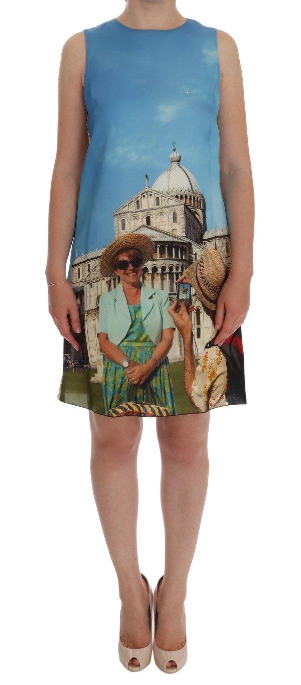 Dolce & Gabbana Women's SANREMO Shift Silk Dress Multicolor DR1163 - IT40 S