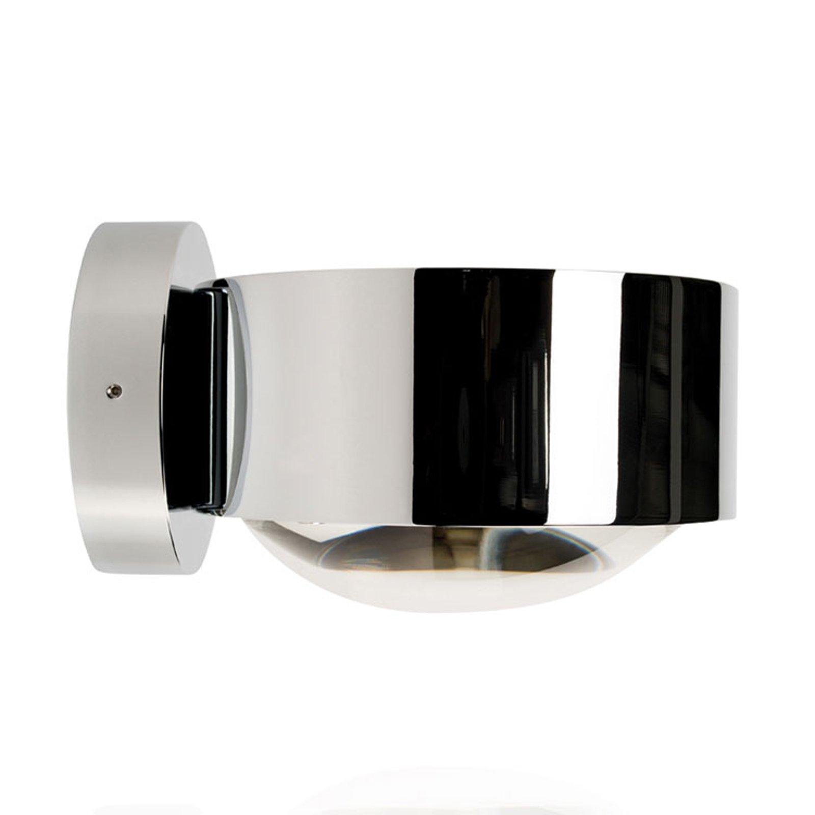 LED-vegglampe Puk Maxx Wall, krom