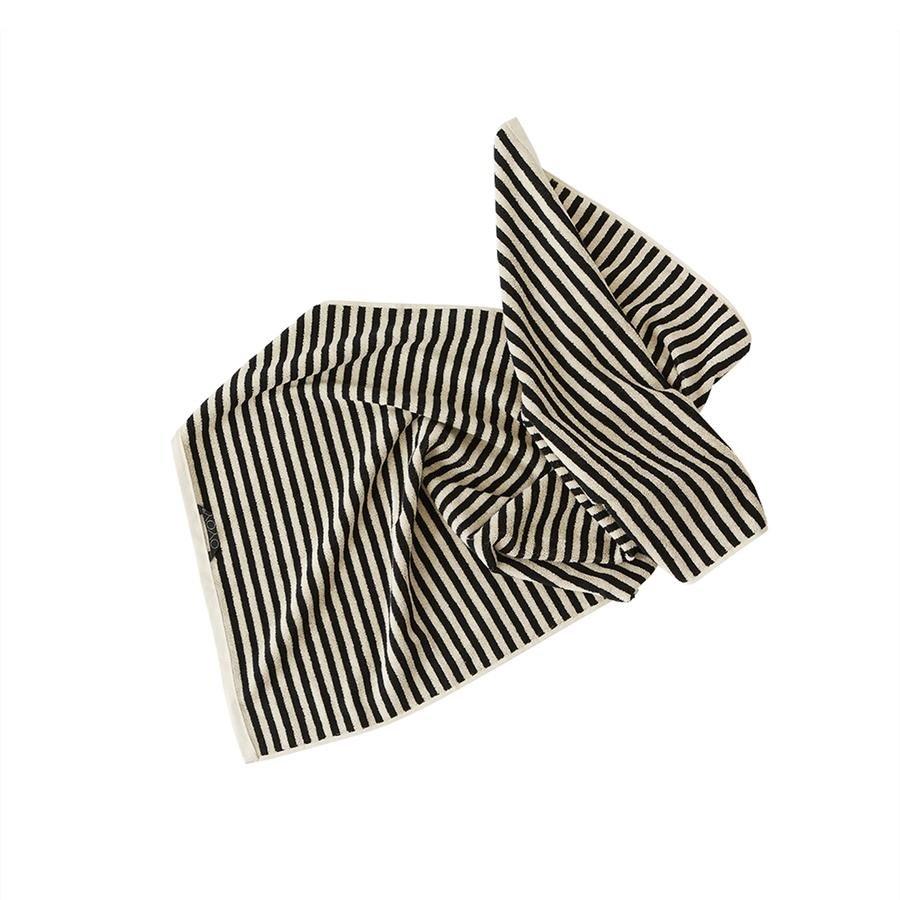OYOY Living - Raita Organic Towel - 50x100 cm - Clay / Black