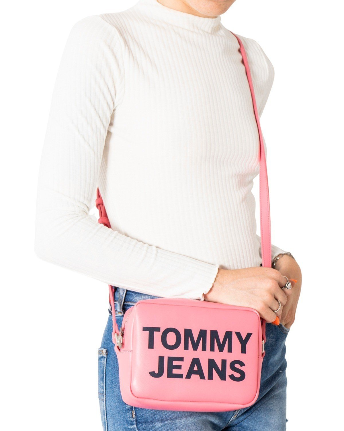 Tommy Hilfiger Jeans Women's Crossbody Bag Various Colours 305397 - pink UNICA
