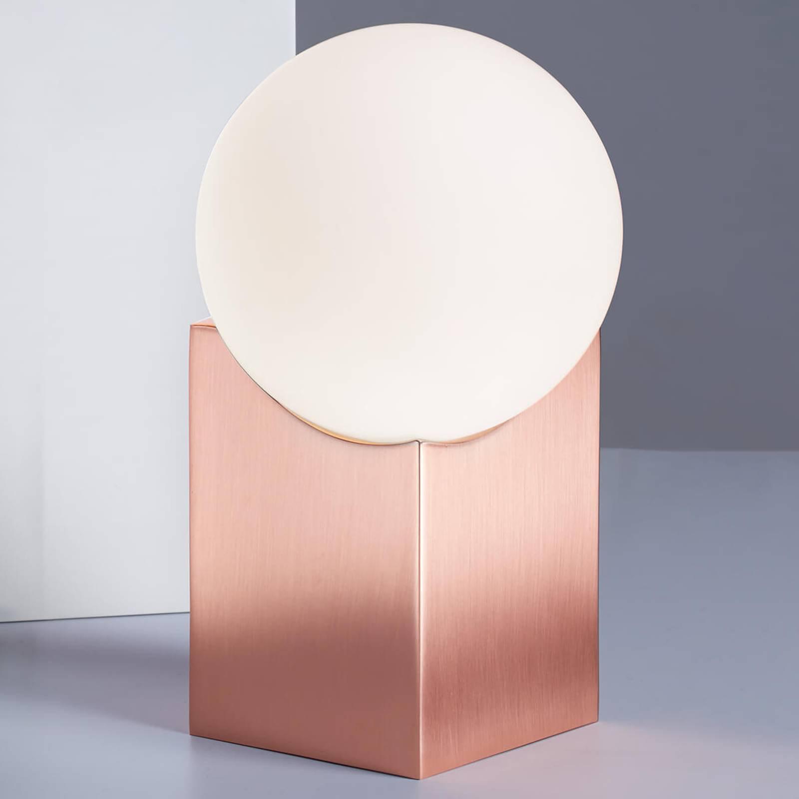 Bordlampe Cub 17,5 cm kobber