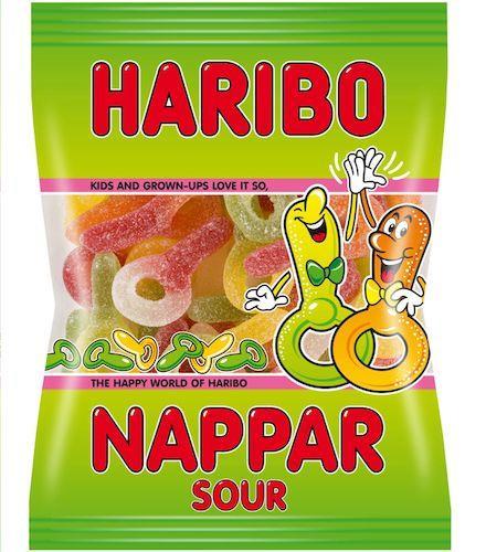 Haribo Nappar Sura 80g