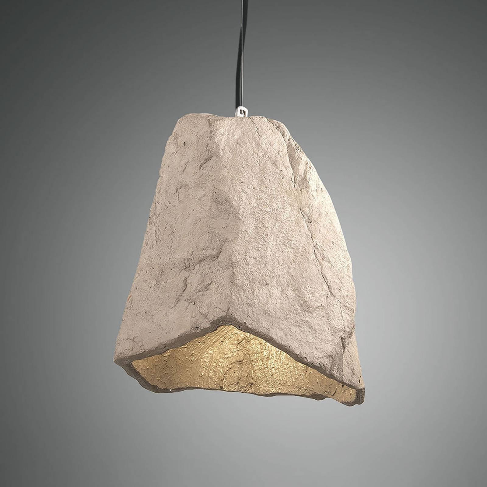 Hengelampe Rock med stein-utseende