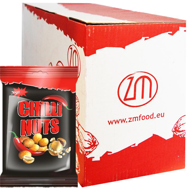 """Hel Låda Jordnötter """"Chilli Nuts"""" 10 x 70g - 63% rabatt"""
