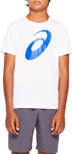 Asics Big Spiral T-shirt, Brilliant White, S
