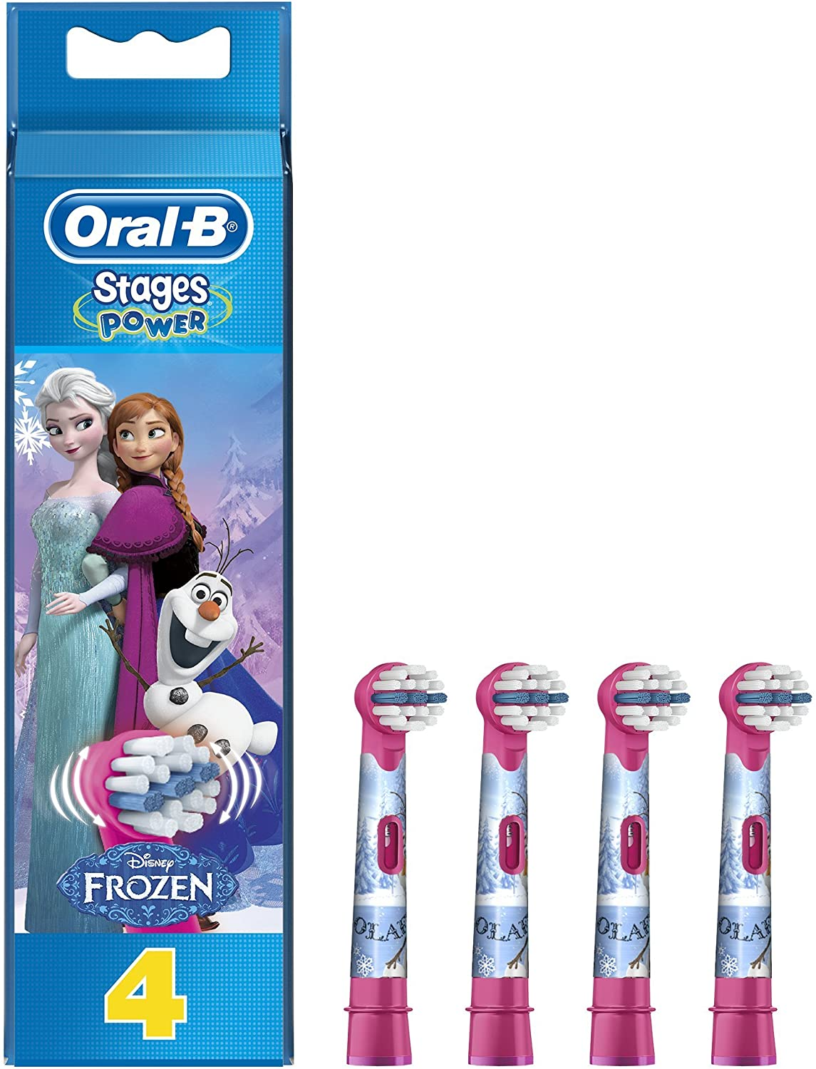 Oral-B - Toothbrush Head With Figures From Frozen (4 Pcs)