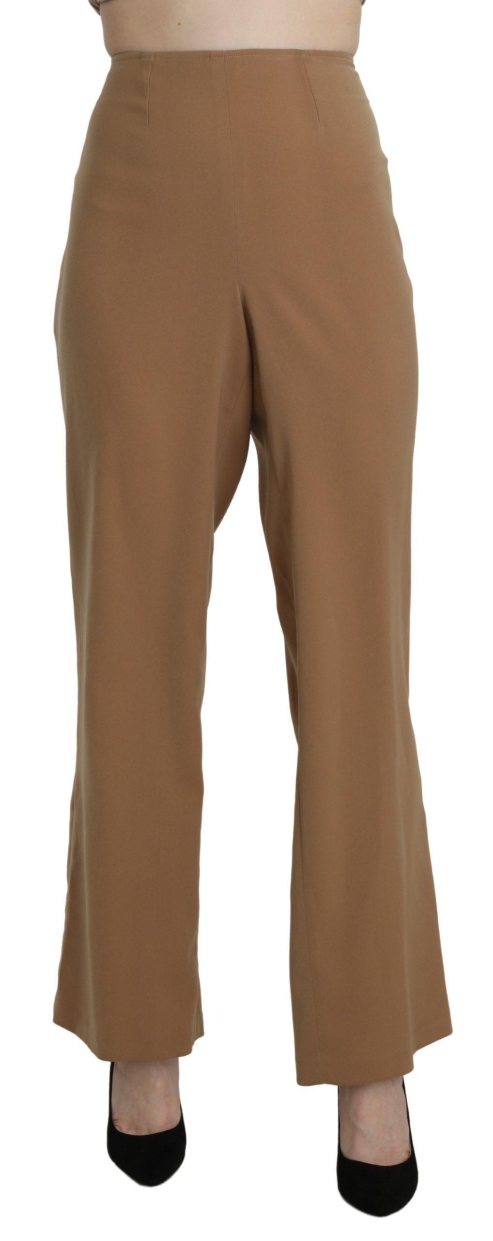Bencivenga Women's High Waist Trouser Beige PAN71361-48 - IT48 XXL