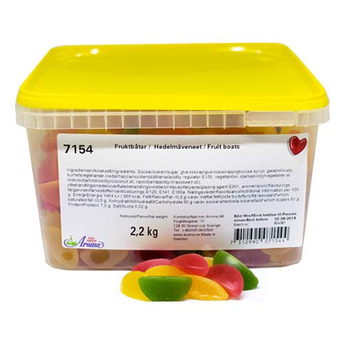 Fruktbåtar Lösvikt i Burk - 2.2 kg