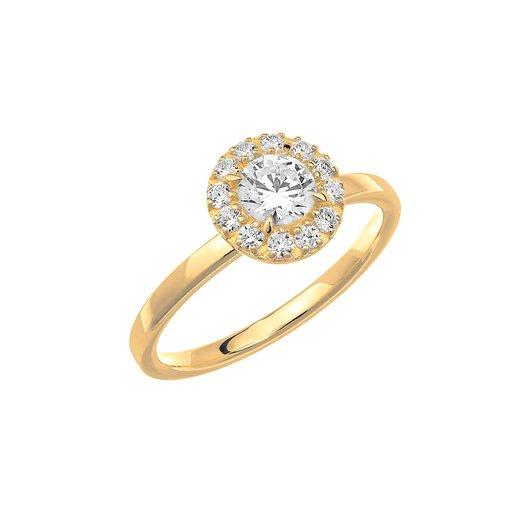 Diamantring i 18K guld, 73
