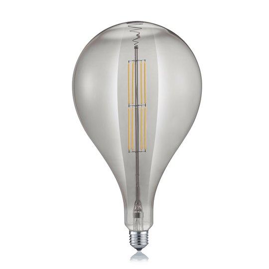 LED-globe-lamppu, pisara, E27 8W 2700K, savu