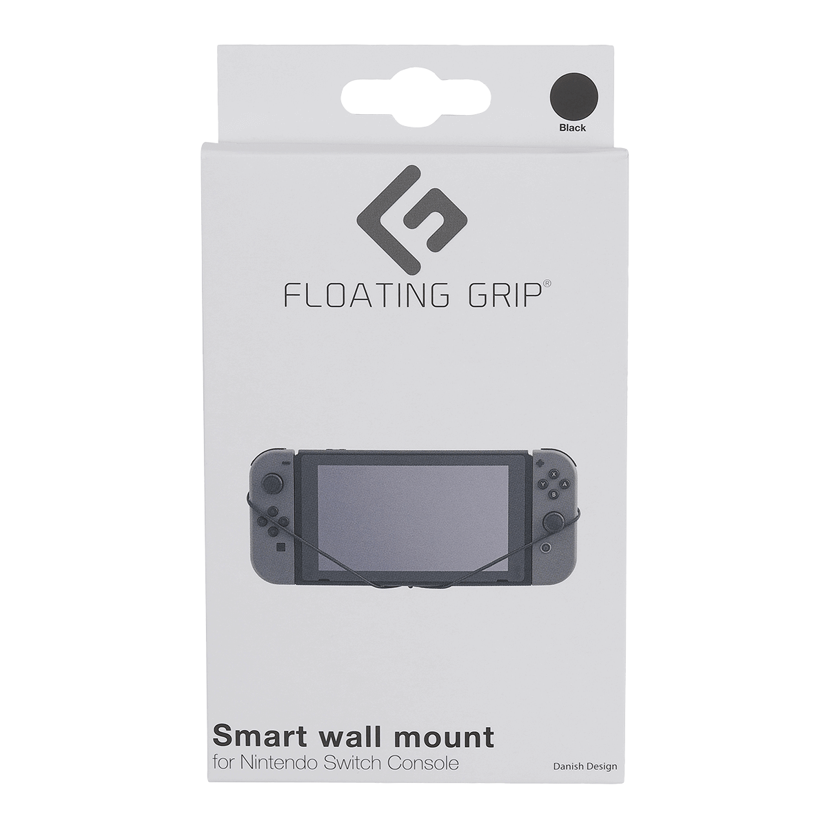 Nintendo Switch Console wall mount by FLOATING GRIP®, Black