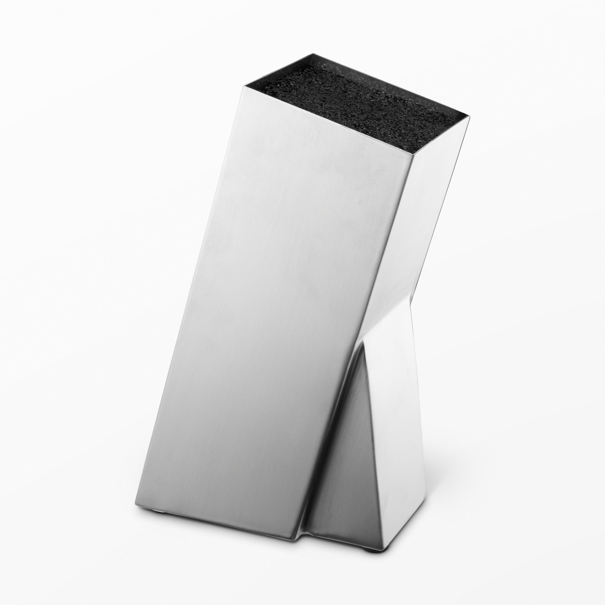 Knivblock i rostfritt stål