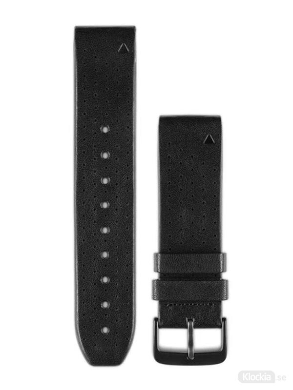 Garmin QuickFit 22mm - Klockarmband, Svart Perforerat Läder